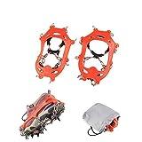 11-Spikes tacos de hielo crampones para niños Zapatos y botas 11 Spikes Anti Slip Snow microspikes hielo Cleats para senderismo…