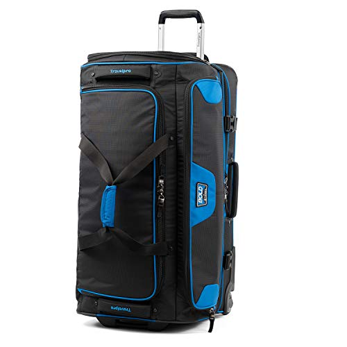 Travelpro Bold-Drop Bottom Wheeled Rolling Duffel Bag, Blue/Black, 30-Inch Minnesota