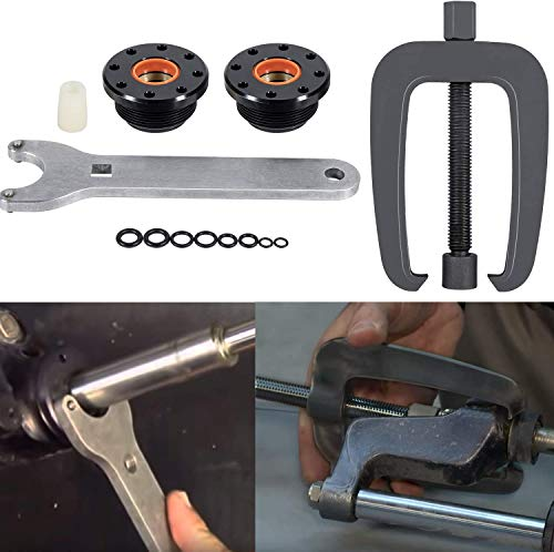 Sunluway Front Mount Hydraulic Steering Cylinder Seal Kit HS5157 & Steering Support Bracket Puller fit for Seastar,Uflex HC5341 HC5348 HC5358 HC5365 HC5375 HC5394 HC5445 HC6750 HC6755