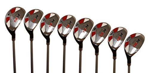 "Majek Senior Men's Golf All Hybrid Complete Full Set, which Includes: #4, 5, 6, 7, 8, 9, PW +SW Senior Flex Right Handed New Utility ""A"" Flex Club"