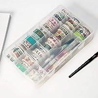 15グリッドプラスチック透明多機能接着剤ワシテープ収納ボックスDIYステーショナリーテープクリップオーガナイザー事務用品