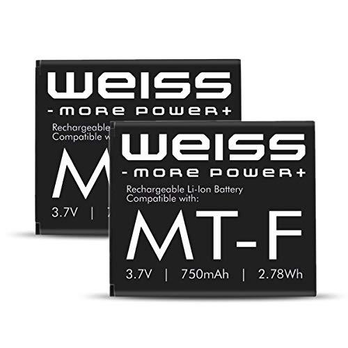 2X Weiss Akku für Fritz!Fon C4 / C5 / M2 / MT-F 750mAh [ersetzt: AVM 312BAT016 (Akku Fritz Fon C4, Akku Fritz Fon M2) / 312BAT006 (Akku Fritz Fon MT-F/Akku Fritz Fon C5] Li-Ion