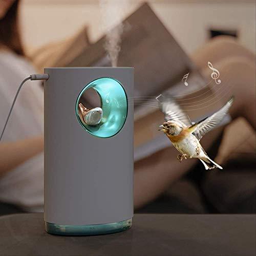 NOBRAND luchtbevochtiger rustgevende stress verlichten natuur vogel lied 400ml Usb Aroma etherische olie diffuser lamp luchtvochtiger Atomizerz