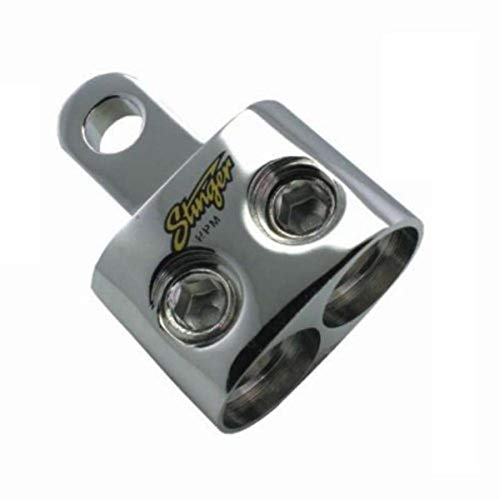 Stinger SPT5201 PRO Classic Dual 1/0 Gauge Inputs to 5/16-Inch Ring Shoc-Krome Terminal
