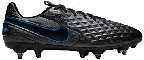 Nike Unisex-Erwachsene Legend 8 Academy Sg-pro Ac Fußballschuhe, Mehrfarbigr Schwarzer Schwarzer Blauer Held 4, 45.5 EU