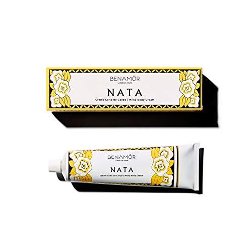 Benamôr - Nata Collection Crema láctea hidratante - Cuidado corporal reconfortante y abundante enriquecido con huevos - Fragancia gourmet - Sin parabenos - Tubo de 150 ml