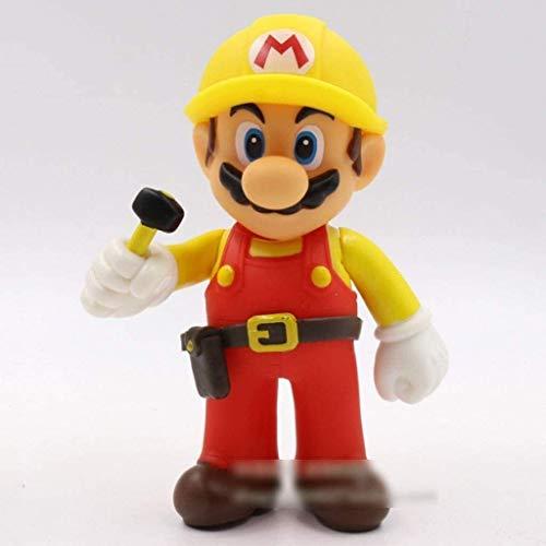 hclshops Super Mario Figura!Mario Ornamento de la Figura de acción (reparador) Modelo de la estatuilla/PVC Figurita Hogar y decoración Oficina / 12cm Ilustraciones Dormitorio