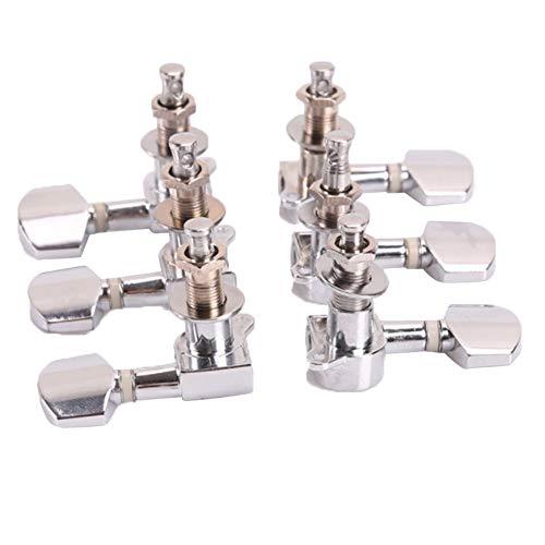 Gitarren-Mechaniken,6 stücke Gitarre Knöpfe Chrome 3L3R Gitarre String Stimmwirbel Tuner Mechaniken Knöpfe Stimmschlüssel für Akustische oder E-gitarre