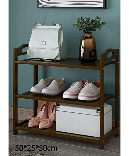 WANGXB Estante del Zapato,Zapatero de bambú,Diseño de múltiples Compartimentos engrosados,la Superficie es...