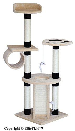 EliteField Cat Tree, Scratcher Furniture Condo House, Multiple (22' L x 22' W x 40' H)