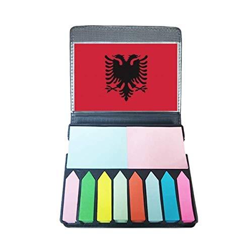 Albanië nationale vlag Europa land zelfklevende notitie kleur pagina markeerdoos