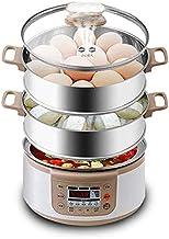 Chaudière à oeufs à dkee Chaudières électriques multifonctions 3 couches rapides cuisinière à vapeur à vapeur Poacher Capa...