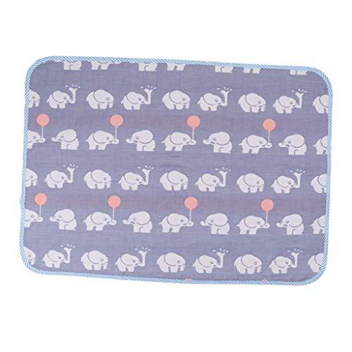 F Fityle Estera para Cambiar Pañales para Bebé, Plegable, Lavable, para Viaje, Impermeable - Elefante azul 50x70cm, como se describe