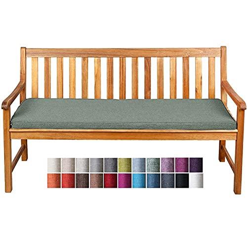 Cuscino per Panche Base BK 120x40x5cm Cuscino di Alta Qualità per Panca da Giardino Balcone Cuscino Lungo Panchina per Dondolo Altalena Divano Esterno