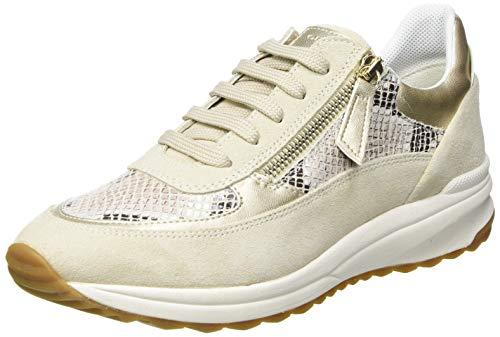 Geox D AIRELL A, Zapatillas Mujer, Beige, 40 EU