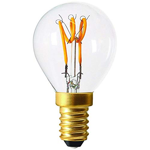 Girard Sudron 716643-LED golfbal C45 LED-gloeilamp, 45 mm, E14, kleine Edison-fitting, helder, warm wit, 120 lumen, dimbaar, 3 W