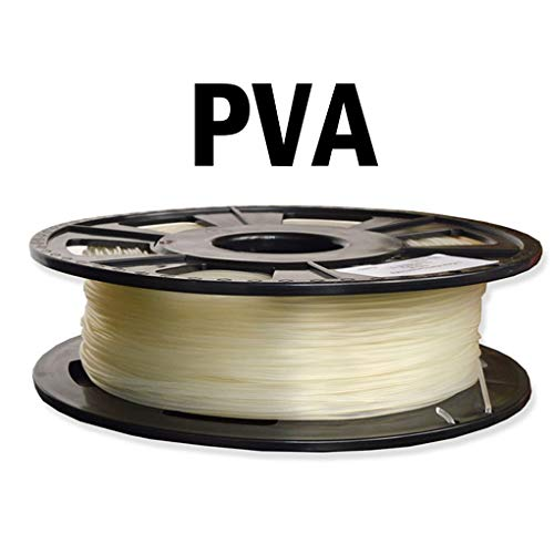 Hello PVA filament, 3D printing filament, water soluble filament, printing support material, Transparent (Size : 3.0mm)