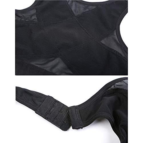 Loopunk Posture Corrector Bra, Women Wireless Back Support Lift Up Yoga Bra Underwear Comfortable Strap Vest (M, Black)
