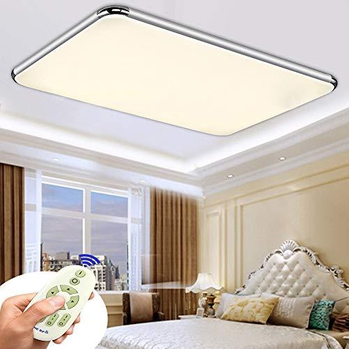 ZPRIO 72W Plafón LED Regulable,Panel De Plafón Para Pasillo,Salón,Cocina,Oficina,Clase De Protección De Lámpara Moderna,Luz De Bajo Consumo,Regulable (3000-6500K) Con Mando A distancia (72W Regulable)