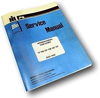 International Cub Cadet 126 127 147 Lawn Tractor Service Repair Workshop Manual