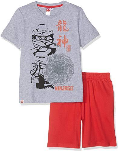 LEGO NINJAGO Jungen 5534 Zweiteiliger Schlafanzug, Grau, 116