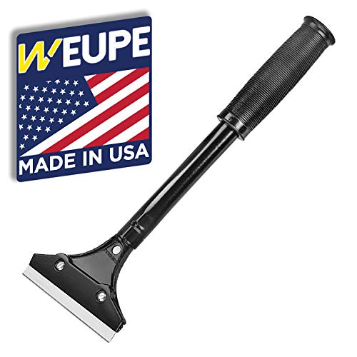 WEUPE Razor Blade Scraper: Wallpaper Remover, Wall Paint Scraper, Adhesive Remover, Wall Stripper - 4-inch Heavy Duty Paint Stripper with Rubber Grip
