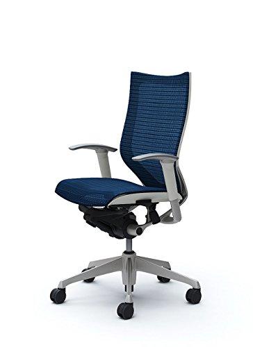 オカムラ デスクチェア オフィスチェア バロン ハイバック 可動肘 座メッシュ ミディアムブルー CP85CW-FEH4