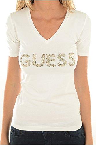 Guess W72I05J1300, Camiseta para Mujer, Blanco (True White), 34 (Fabricante: XS)