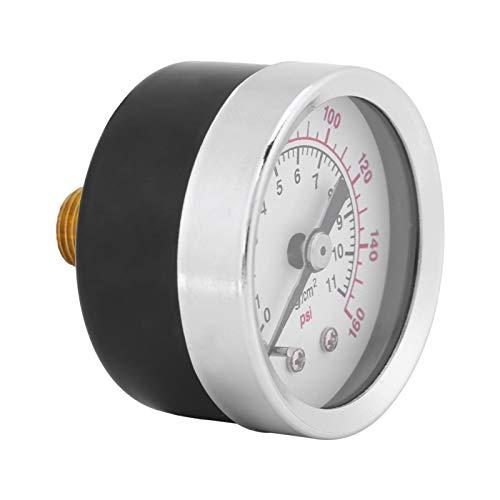 Kuuleyn Medidores de neumáticos para presión de neumáticos, 0-160psi 1/8npt Manómetro de manómetro de Agua, Aceite y Aire