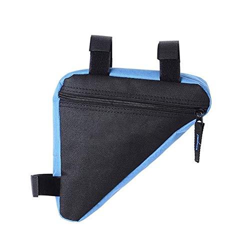 ZZYUBB wasserdichte Motorrad-Dreieck-Tasche Auto-Kofferraum-Organisator-Speicher-Beutel-Beutel Fahrrad Frontseiten-Schlauch Rahmentasche Sattelhalter (Color Name : Blue)