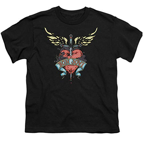 Bon Jovi Logo Heart and DaggerT-shirt for Kids with Free Sticker