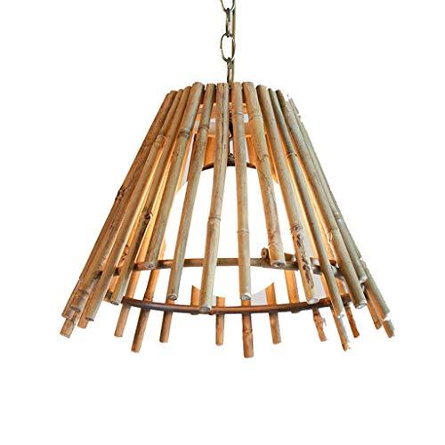 LJF lamp . Luces colgantes de madera, candelabro de una sola cabeza