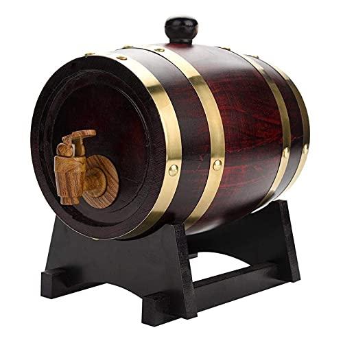 YNA Barril De Roble Vintage, Barril De Almacenamiento Whisky De Vino Envejecido De Madera De Roble con Tap For Beer Whisky Rum Port (Color : 1.5L)