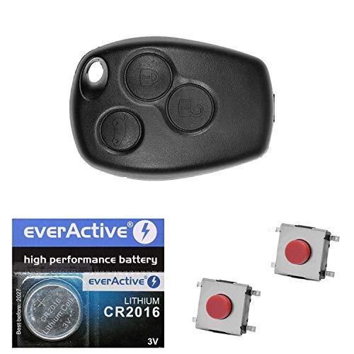 bester der welt Autoschlüssel-Funksteuerung 1x Gehäuse 3 Tasten + 3 Mikrotasten + 1xCR2016 Batterie… 2021