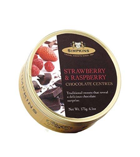 Simpkins Raspberry & Strawberry Chocolate Centres x 3 tins
