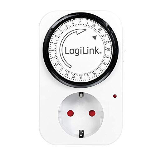 Logilink ET0001 Mechanische Zeitschaltuhr, Schwarz
