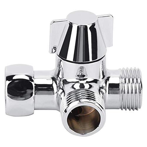 YLLN Conector desviador de Agua de Tres vías para Ducha, Separador de Agua con Adaptador en Forma de T para baño de Hotel. (G1/2)