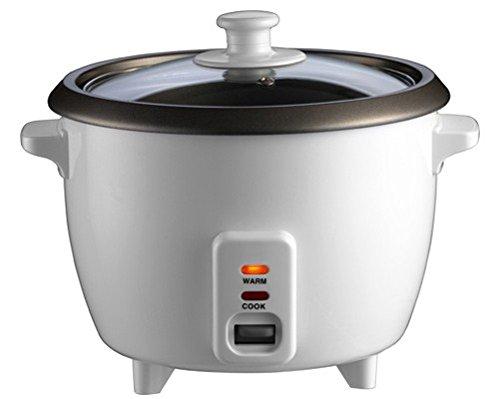 Reiskocher inkl. Messbecher und Löffel Minireiskocher 0,8L 350W