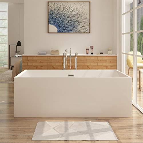 i-flair Freistehende Badewanne 150x75 cm ALTENA Design - aus Acryl in Weiß – verschiedene Größen