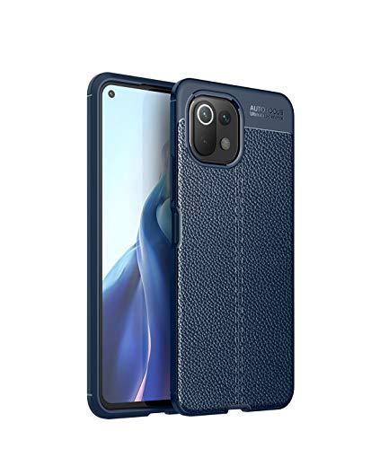 BAIDIYU Hülle für Xiaomi Mi 11 Lite, Kratzfeste, Schlanke, Stoßfeste TPU-Stoßstangenabdeckung, Flexibler Schutz, Schutzhülle für Xiaomi Mi 11 Lite Handyhülle.(Blau)