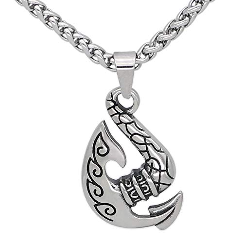 Collar con Colgante De Amuleto De Runas con Hacha Vikinga Nórdica De Acero Inoxidable