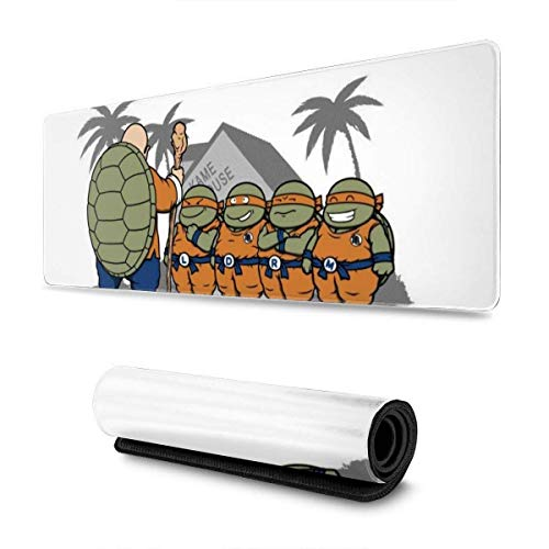 Mausepad Ninja Kame Kinder Tmnt Dragon Ball Z Schreibtisch Gummi Laptop Rutschfest Anime Mouse Pad Schutztastatur Tastatur Büro Gedruckt Benutzerdefiniert Groß 30X80Cm Computerspi