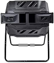 EJWOX Composting Tumbler - Dual Rotating Outdoor Garden Compost Bin, Easy Turn/Enough Height/Heavy Duty Capacity Composter(43 Gallon, Balck)