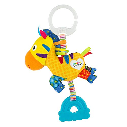 """Lamaze Baby Spielzeug """"Zero, das Zebra"""" Mini Clip & Go, das hochwertige Kleinkindspielzeug. Der quietschbunte Greifling fördert Motorik und ist das perfekte Kinderwagenspielzeug und Kuscheltier"""