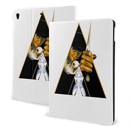 Un reloj naranja caso ajuste tableta iPad Air3 10.5 pulgadas con auto sueño/despertar ultra delgado ligero soporte cuero caso