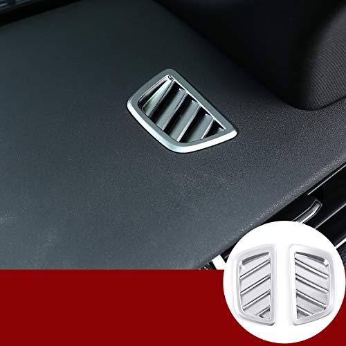 Cubierta de ventilación de ABS cromada para salpicadero de aire acondicionado, 2 unidades, para LR RangeRover Evoque 2019 2020 accesorios de auto (plateado)