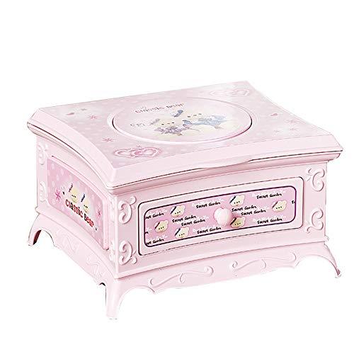 HshDUti Schminkspiegel Schubladen Tanzen Ballerina Mädchen Spieluhr scherzt musikalisches Spielzeug Pink
