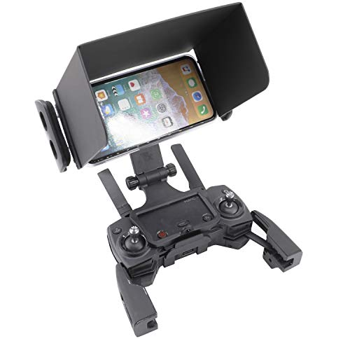 RC GearPro zonnekap + telefoonhoesje ondersteuning 5,8 inch OLED mobiele telefoon compatibel voor DJI Mavic PRO/AIR/SPARK, Mavic 2 Pro/Zoom, Papegaai Anafi Drone en andere merk Drone