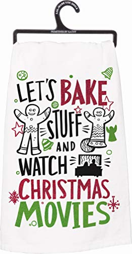 Primitives by Kathy Winter Holiday Dish Towel (Christmas Movies)