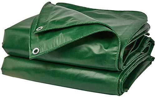 YLCJ waterdichte zeildekzeil Tarp campinghoes met auto oogjes Boot motorfiets Tuin Hout 16mil Gewicht 420g / m2 Groen, 4mx6m 6mx8m